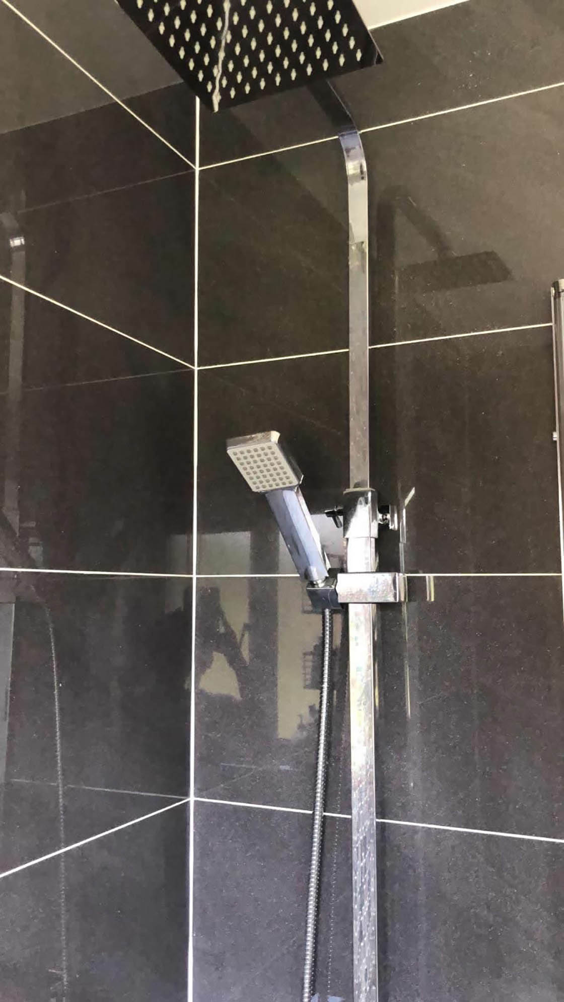 Compact Shower Unit in Bathroom