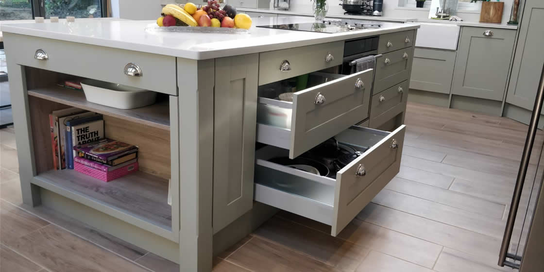 Farrow and Ball French Gray Kitchen Example