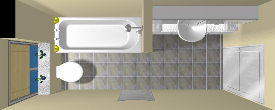3D Bathroom Design Image