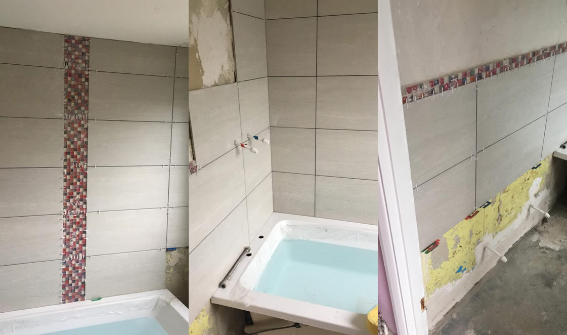 Goodwin Wetroom Redhill During Construction 2