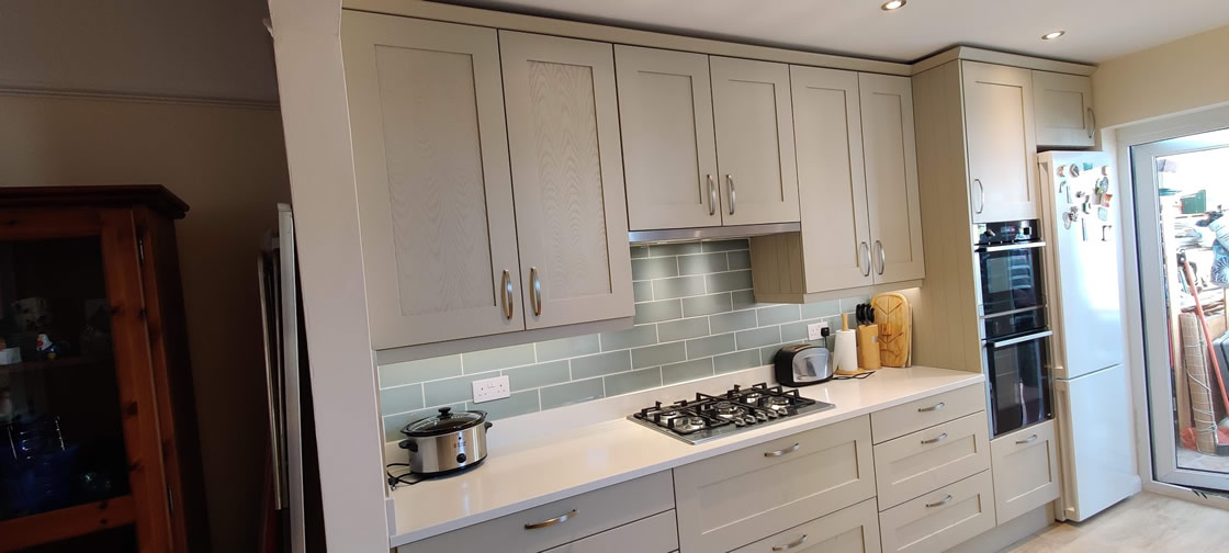 Bespoke Kitchen Design in Farrow and Ball French Grey - Thickett - Surrey