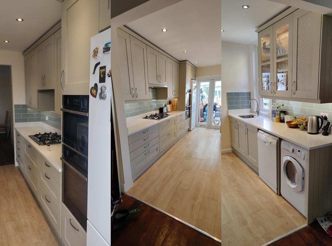 Bespoke Kitchen Design in Surrey - Farrow and Ball French Grey - Thickett