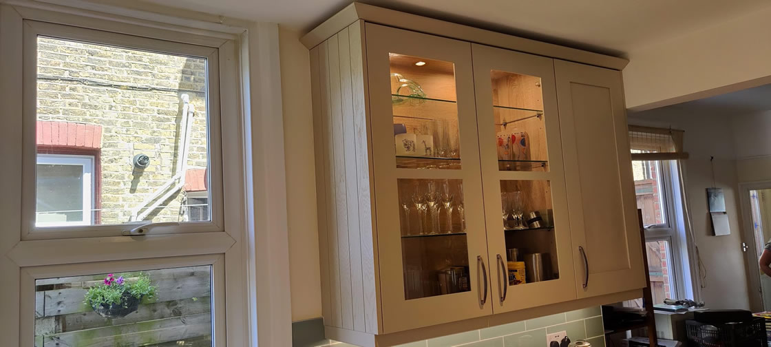 Bespoke Kitchen in Farrow and Ball French Grey - Thickett