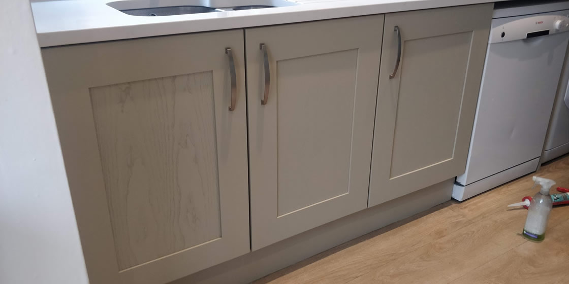 Close up of Woodgrain on Kitchen Door - Thickett
