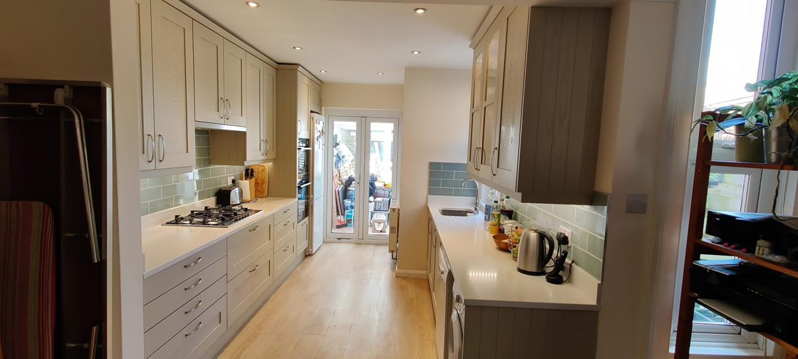 Farrow and Ball French Grey Kitchen in Surrey - Thickett