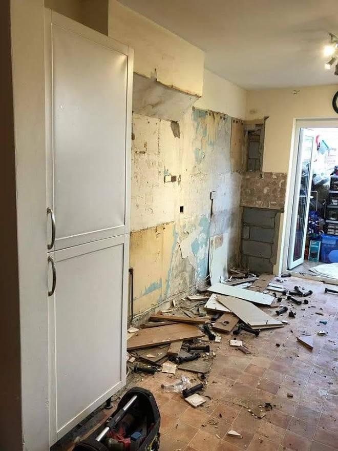 Thickett Bespoke Kitchen During Construction - Sutton in Surrey (1)