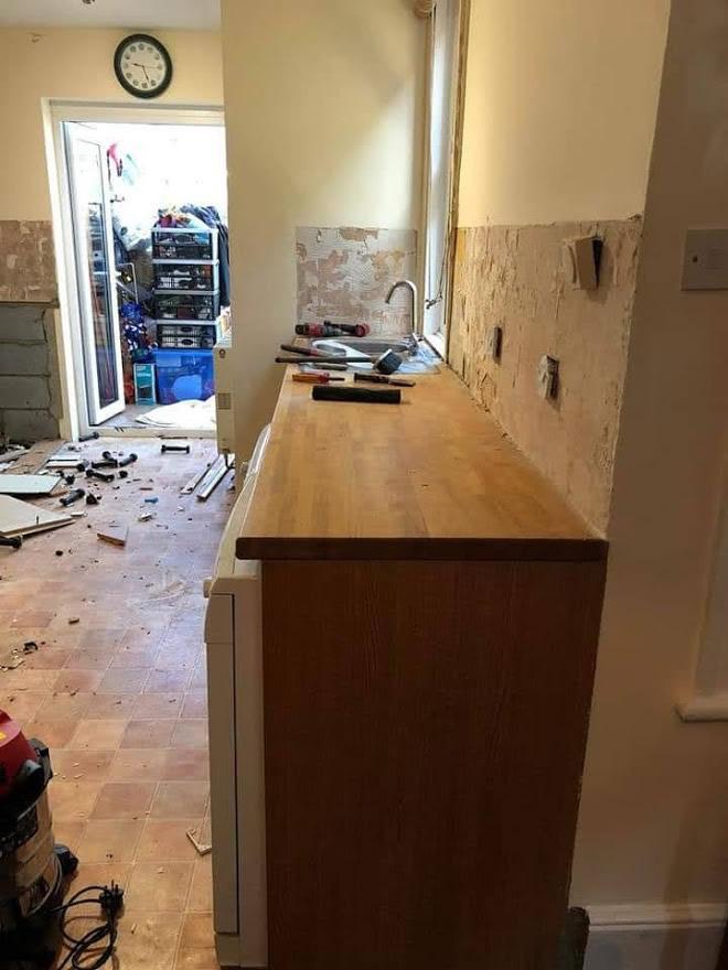 Thickett Bespoke Kitchen During Construction - Sutton in Surrey (2)