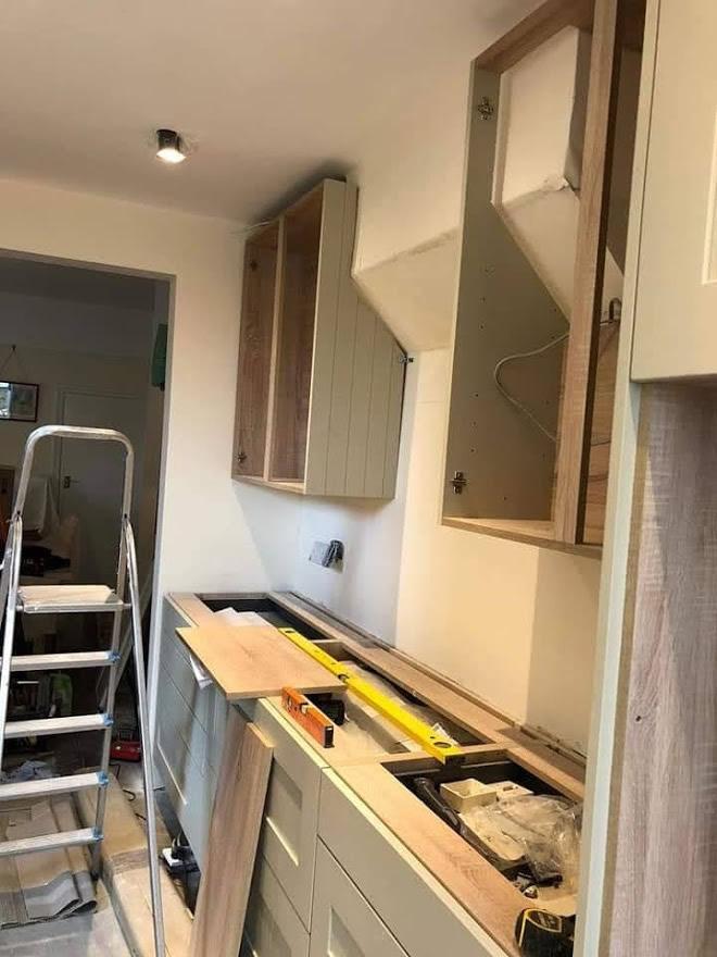 Thickett Bespoke Kitchen During Construction - Sutton in Surrey (5)