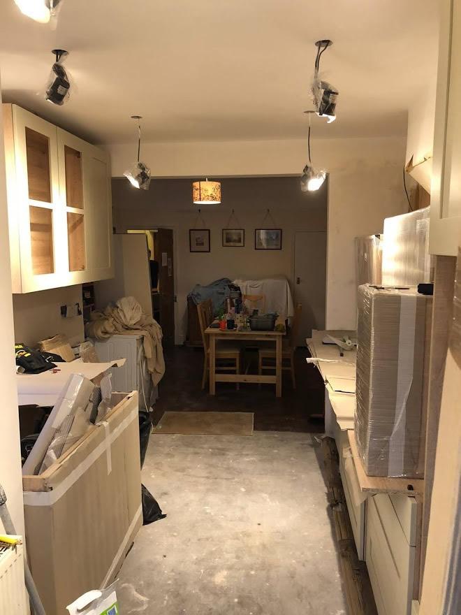 Thickett Bespoke Kitchen During Construction - Sutton in Surrey (8)