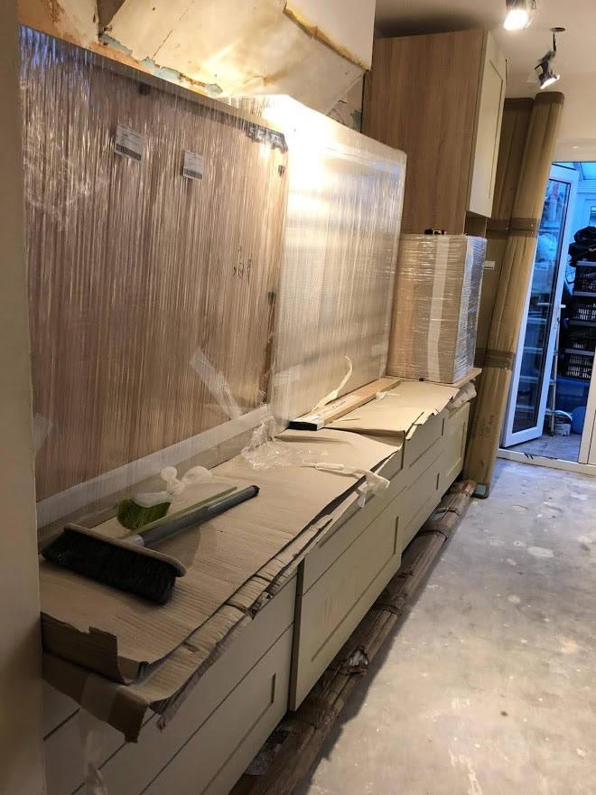 Thickett Bespoke Kitchen During Construction - Sutton in Surrey (9)