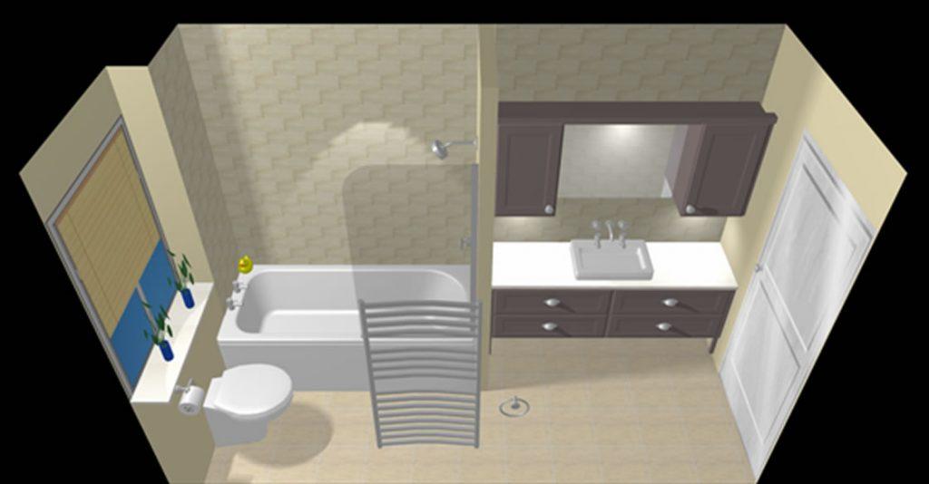 3D Design of Bespoke Bathroom for Reigate Project