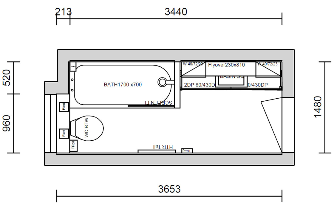 Detailed Bathroom Design Plan - Reigate Bathroom