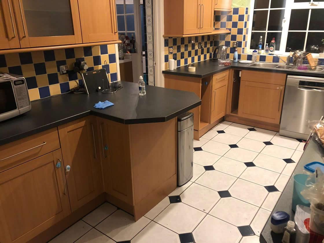 Kitchen Diner Before Transformation in Caterham Surrey