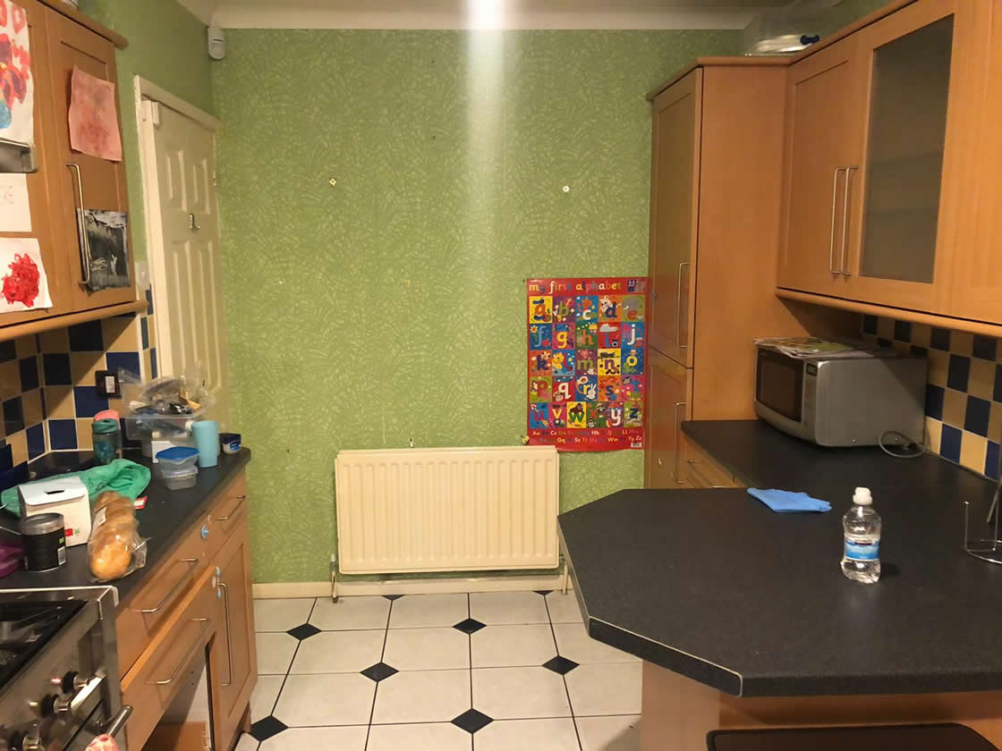 Kitchen Diner Before Transformation in Caterham