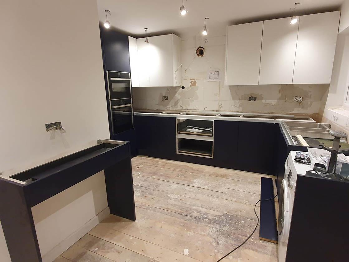 New Kitchen Being Installed in Redhill Surrey - Brooklands