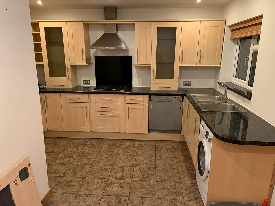 Old Kitchen Before Work Commenced - Brooklands