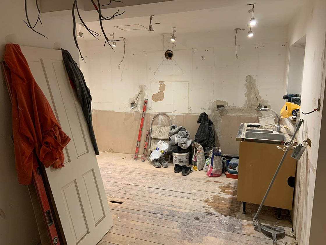 Old Kitchen Ripped Out - Brooklands