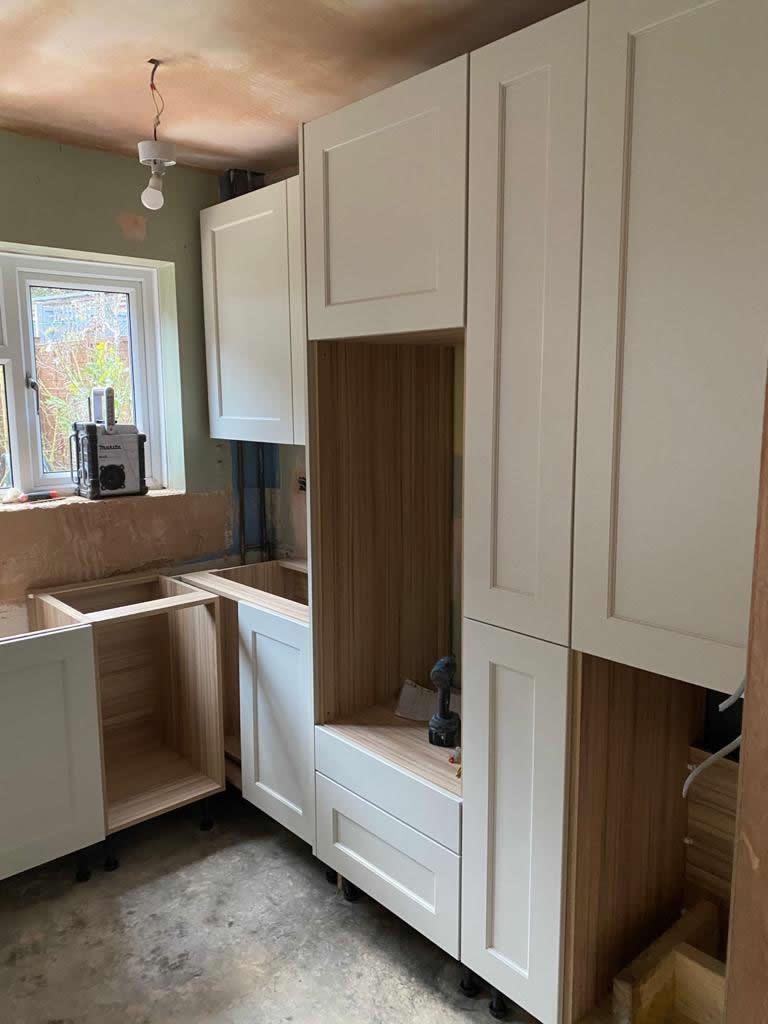 Kitchen Diner Transformation in Dorking During Installation - Punchbowl (2)