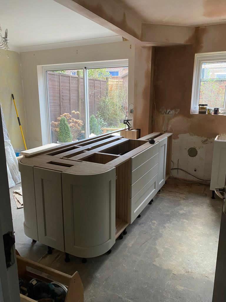 Kitchen Diner Transformation in Dorking During Installation - Punchbowl (3)