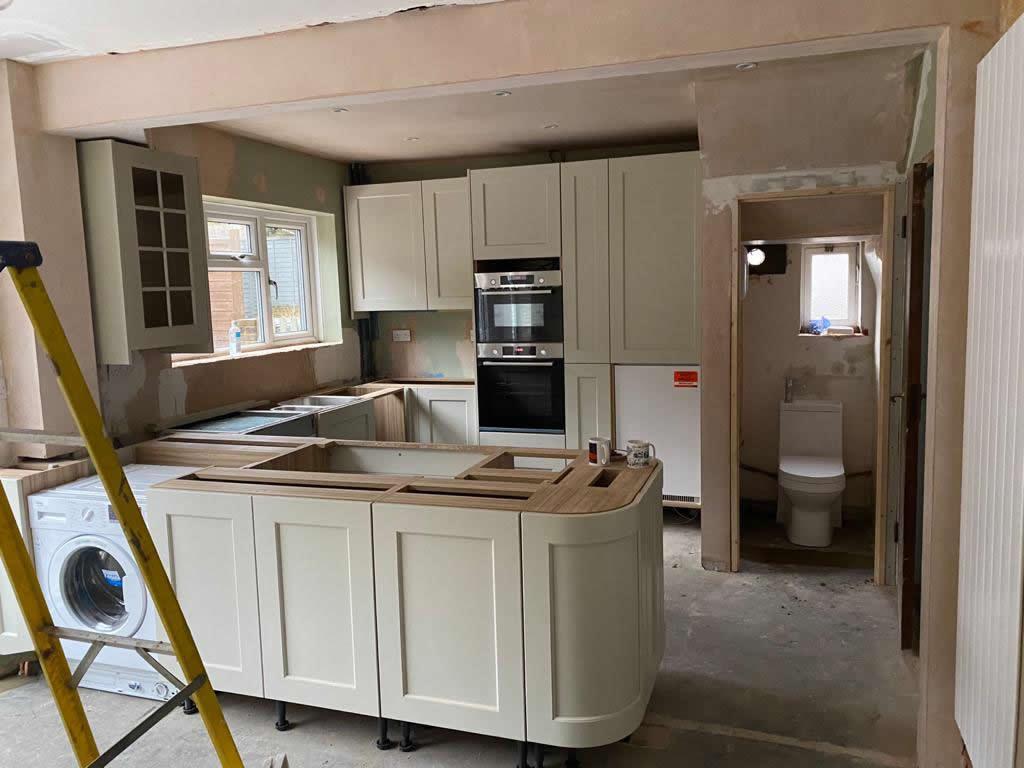 Kitchen Diner Transformation in Dorking During Installation - Punchbowl (5)