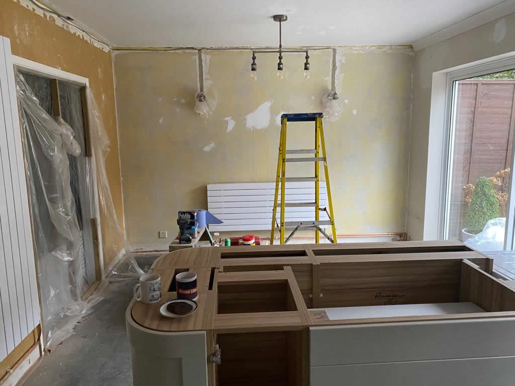 Kitchen Diner Transformation in Dorking During Installation - Punchbowl (6)
