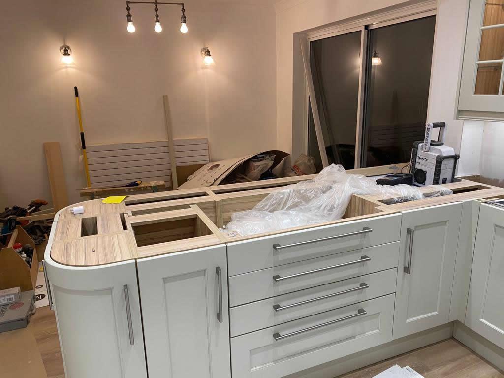 Kitchen Diner Transformation in Dorking During Installation - Punchbowl (7)