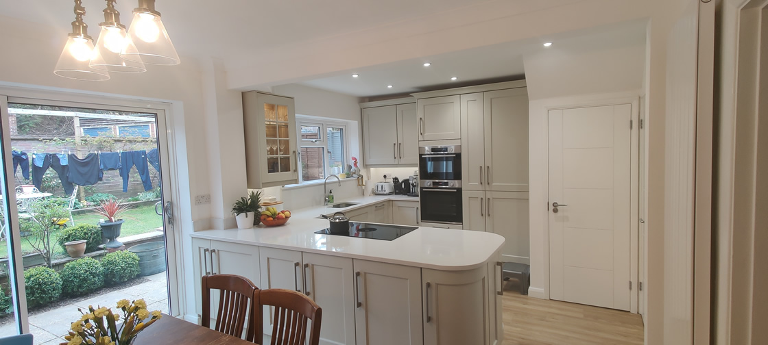 New Shaker Kitchen in Mussel Installed in Dorking Surrey - Punchbowl (11)