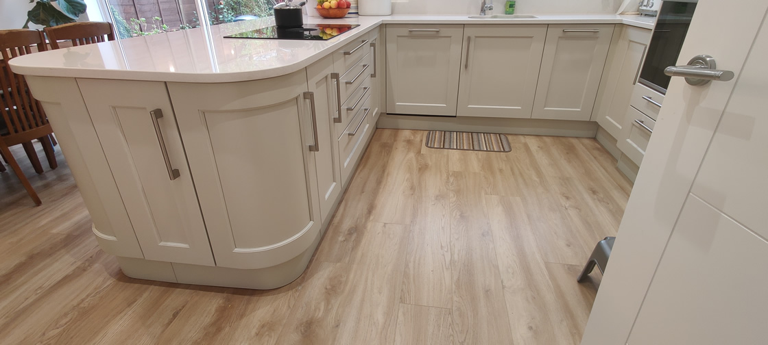 New Shaker Kitchen in Mussel Installed in Dorking Surrey - Punchbowl (3)