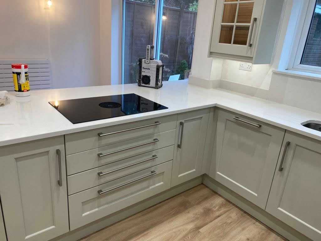 New Shaker Kitchen in Mussel Installed in Dorking Surrey - Punchbowl (7)