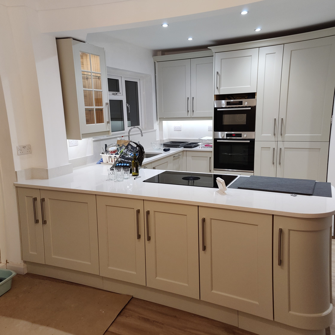 New Shaker Kitchen in Mussel Installed in Dorking Surrey - Punchbowl (8)