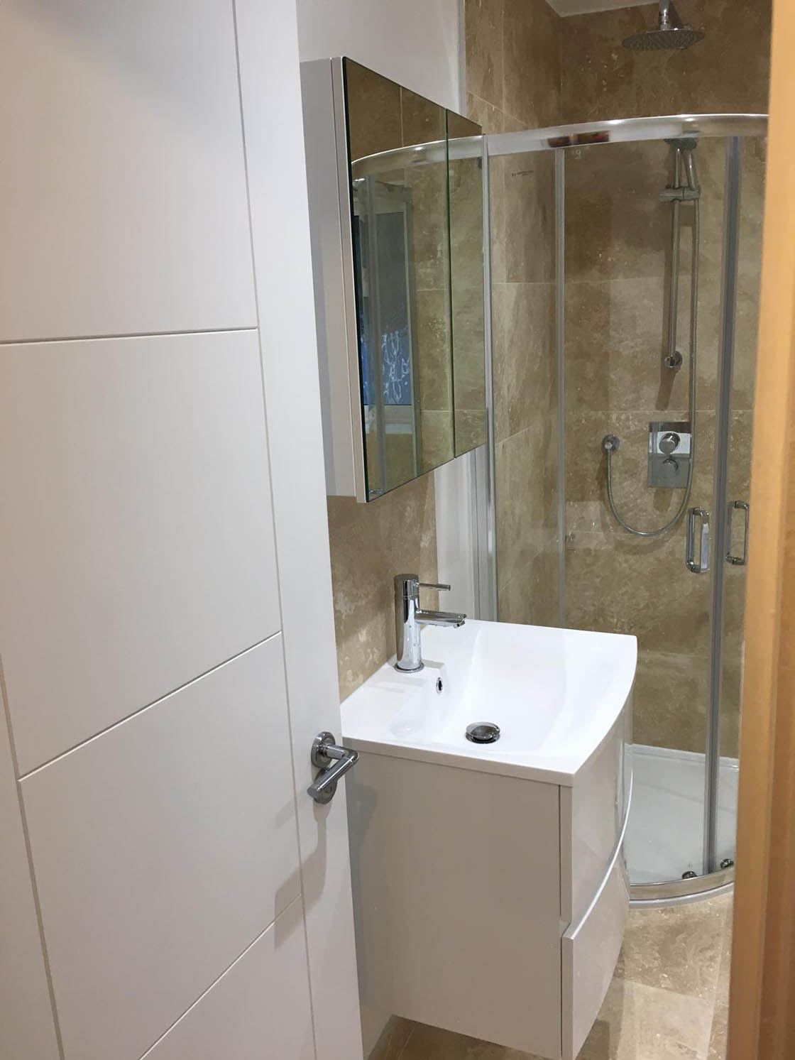 Project to Combine Separate Toilet and Bathroom in Dorking Surrey (10)