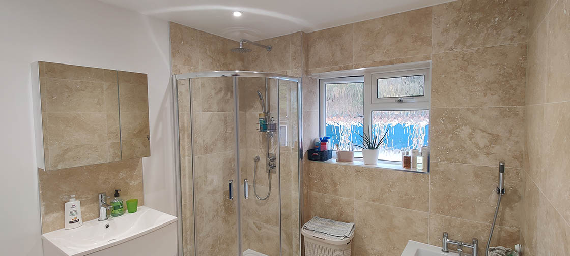 Project to Combine Separate Toilet and Bathroom in Dorking Surrey (2)