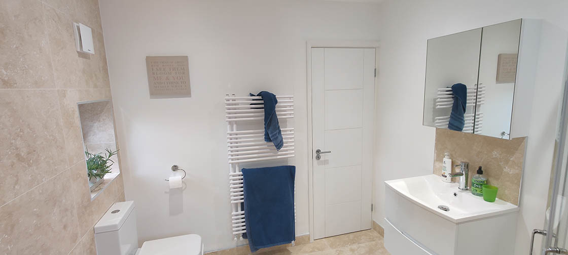 Project to Combine Separate Toilet and Bathroom in Dorking Surrey (3)