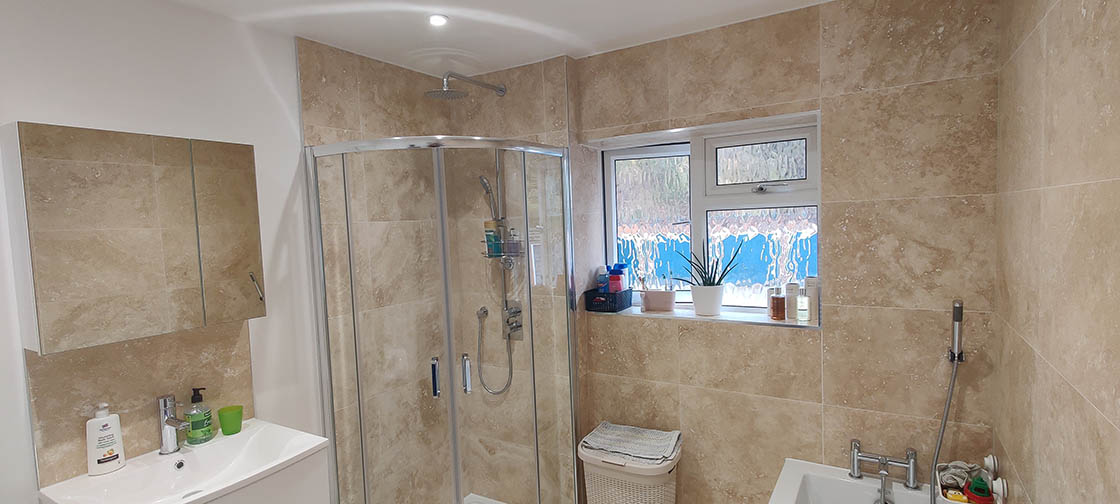 Project to Combine Separate Toilet and Bathroom in Dorking Surrey (4)