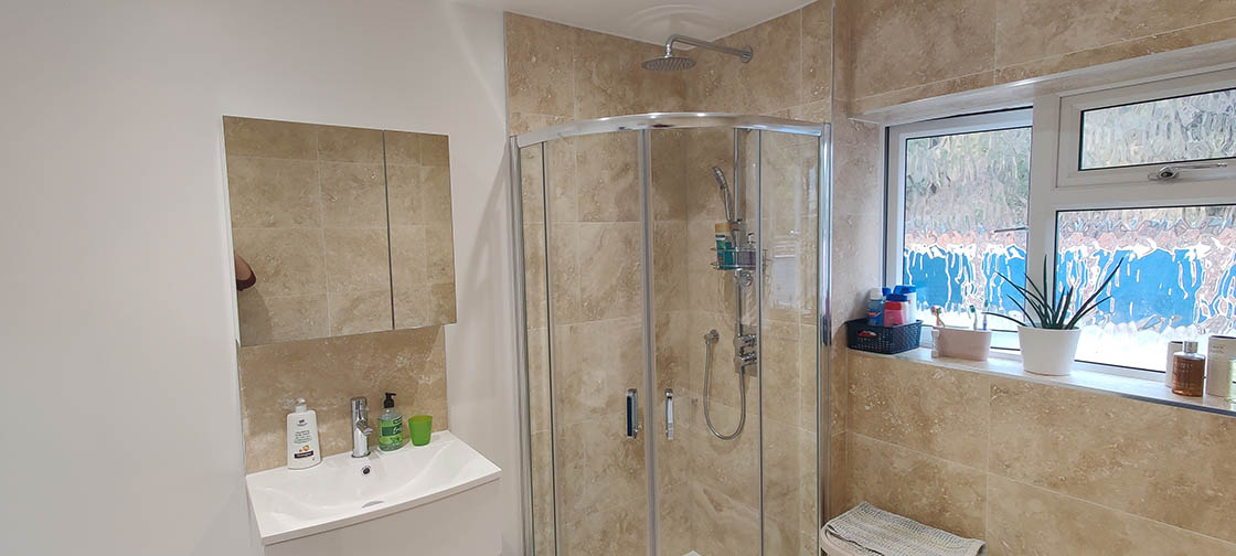 Project to Combine Separate Toilet and Bathroom in Dorking Surrey (6)