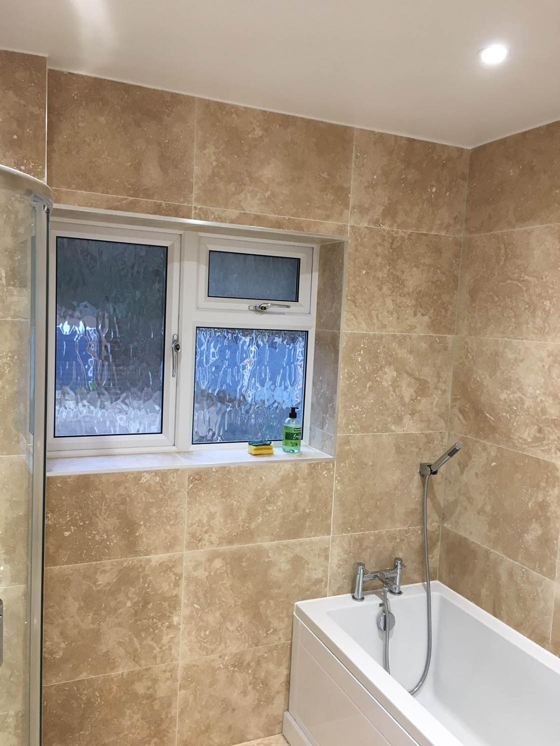 Project to Combine Separate Toilet and Bathroom in Dorking Surrey (8)