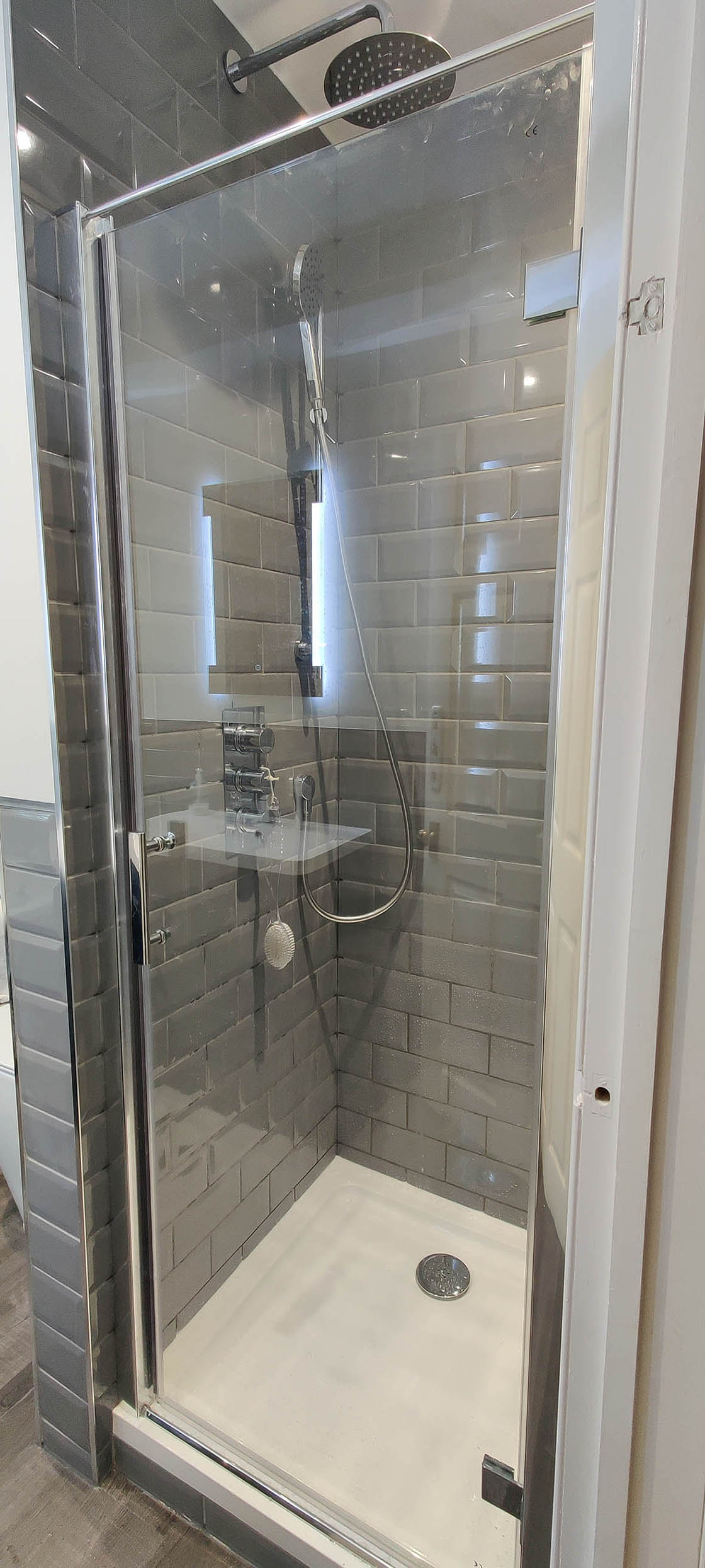 Shower Cubicle in Horley Bathroom Renovation - Maple View