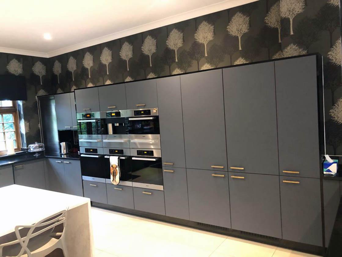 Matt Green Kitchen Door Replacement in Fetcham Surrey
