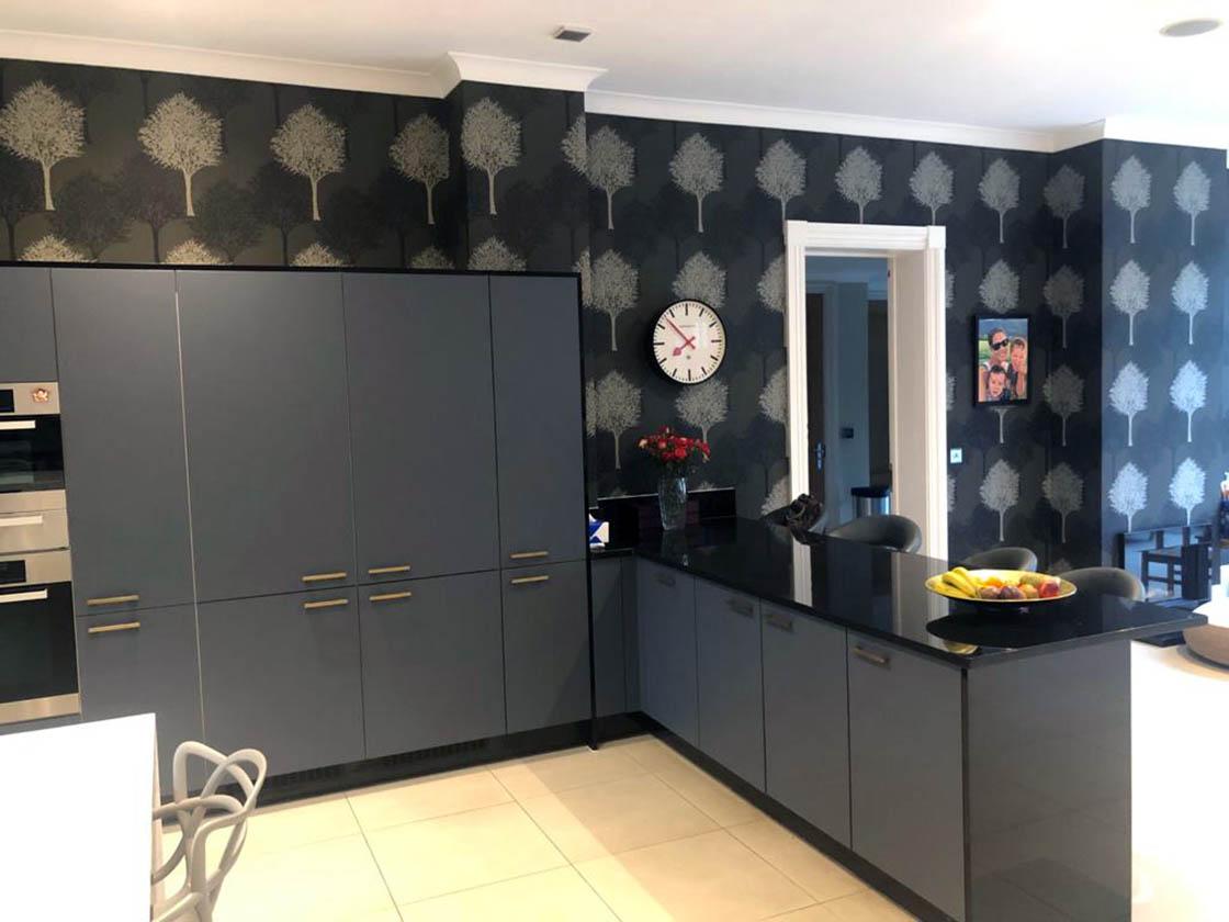 Zurfix Kombu Matt Green Kitchen Door Replacement in Fetcham Surrey