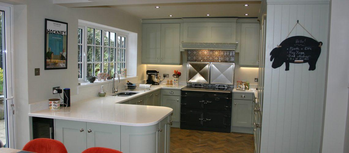Bespoke Kitchen In Farrow Ball French Grey Blok Designs Ltd