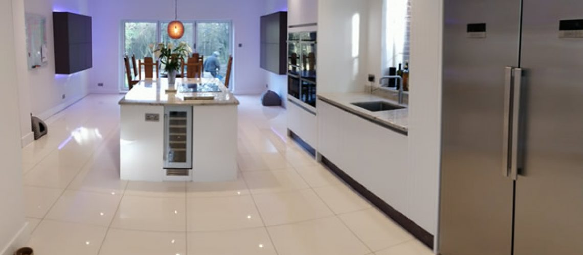Bletchingley Bespoke Kitchen Design Featuring Double Fridge