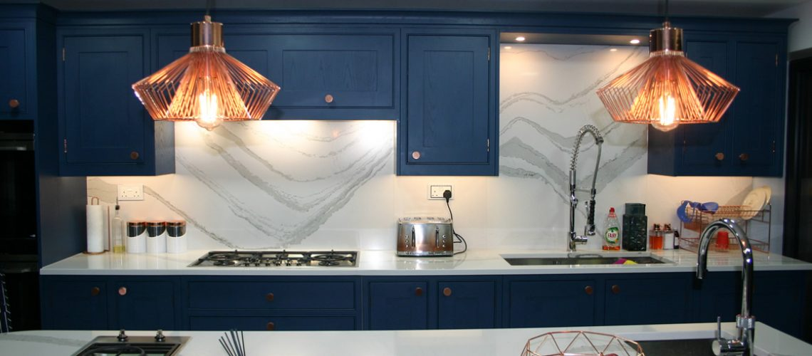 Kitchen Design Feautring Extra Sink in Large Island